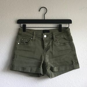 Olive Green Jean Shorts.